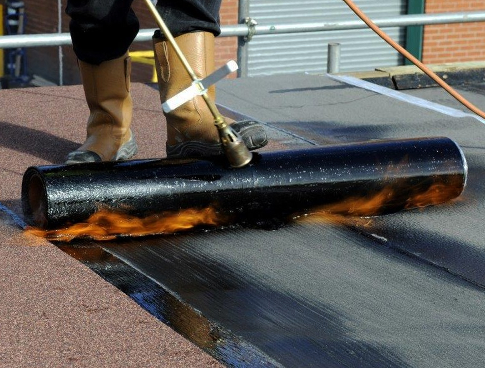 roofing-torch-on-roofing-project-vancouver